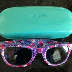 She She Shells Madeline sunglasses Kate Spade Case